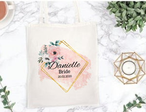 Floral Blush Tote Bag