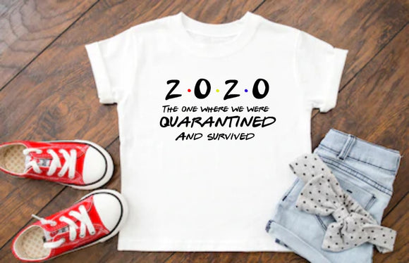 Children's 2020 Quarantine Survivor T-Shirt