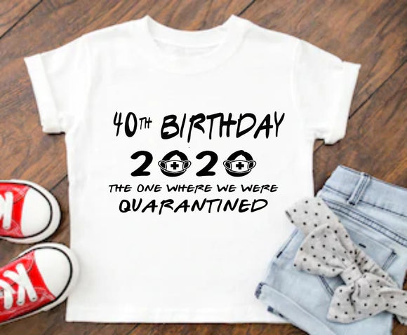 2020 Age Birthday Quarantine Survivor T-Shirt