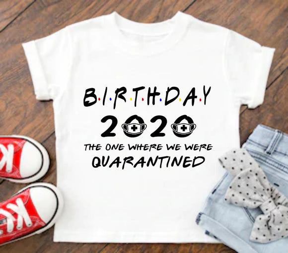 2020 Birthday Quarantine Survivor T-Shirt