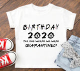 Women's 2020 Birthday Quarantine Survivor Slim Fit T-Shirt