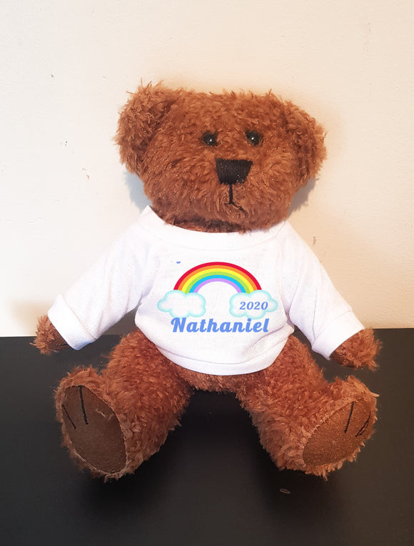 Personalised Rainbow Bear