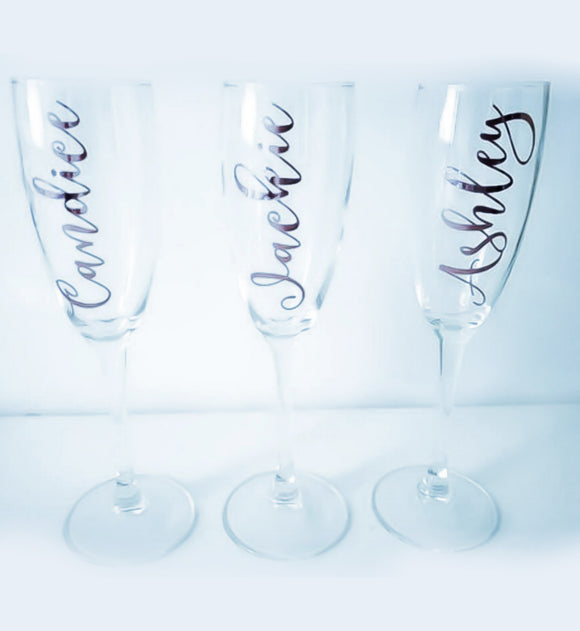Name Champagne Flutes