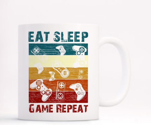 Eat Sleep Repeat Gamer Mug