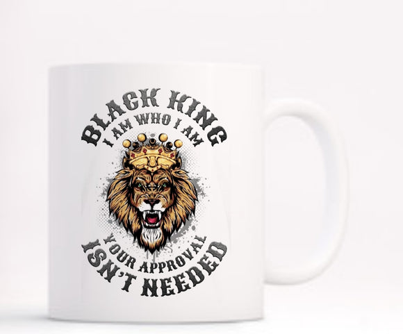 Lion Black King Mug