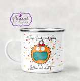 Personalised Santa Lockdown Made Me Do It Enamel Mug