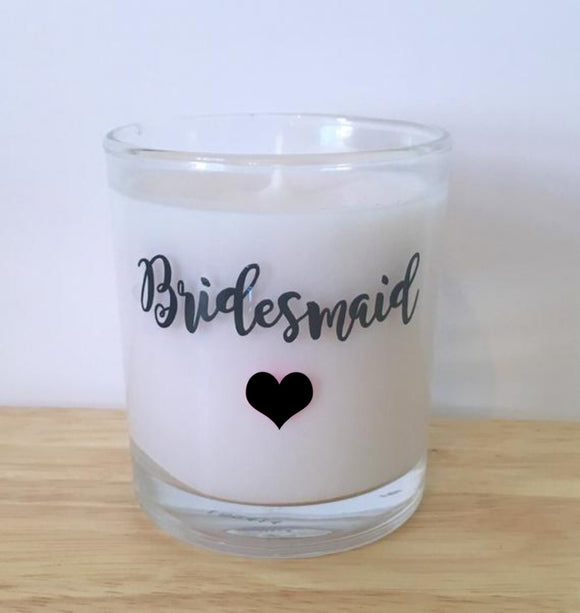Bridesmaid Heart Candle