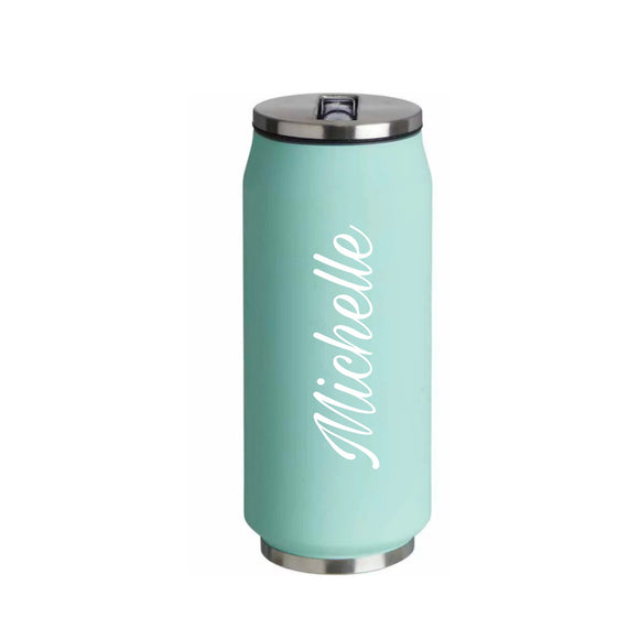 Mint Green Personalised Insulated Can
