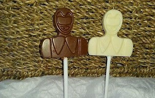 Power Ranger Chocolate Lolly