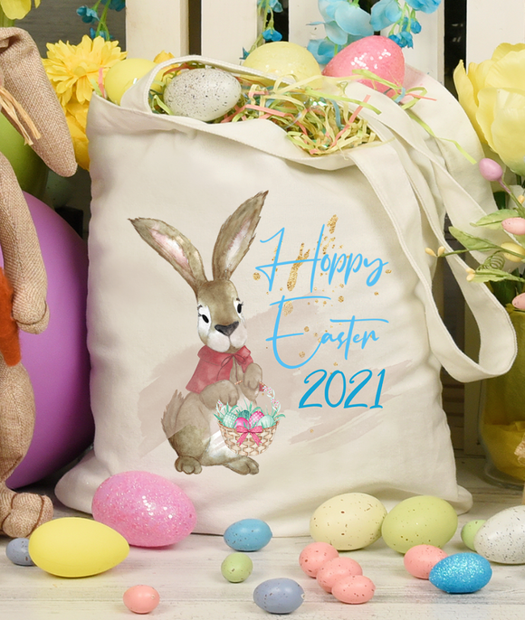 Rabbit Happy Easter Tote Bag