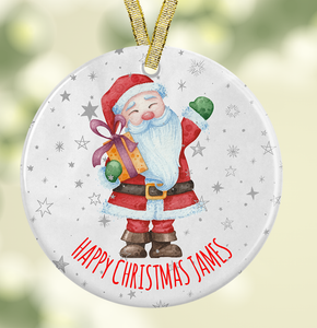 Ceramic Santa Christmas Decoration