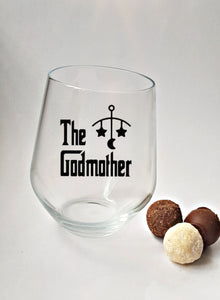 Godmother Stemless Wine Glass