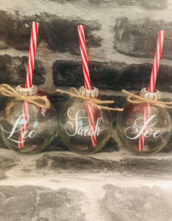 Wedding Personalised Drinking Baubles