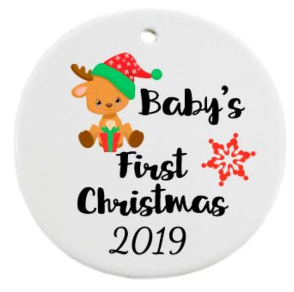 Ceramic Baby's First Christmas Decoration