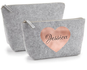 Personalised Grey Accessory Bag