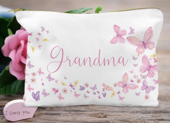 Grandma Butterfly Accessory Bag