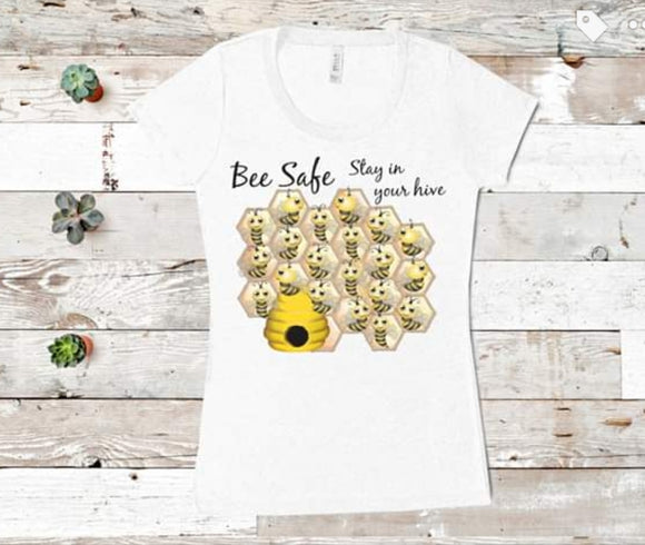 Children's Bee Safe With your Hive T-Shirt