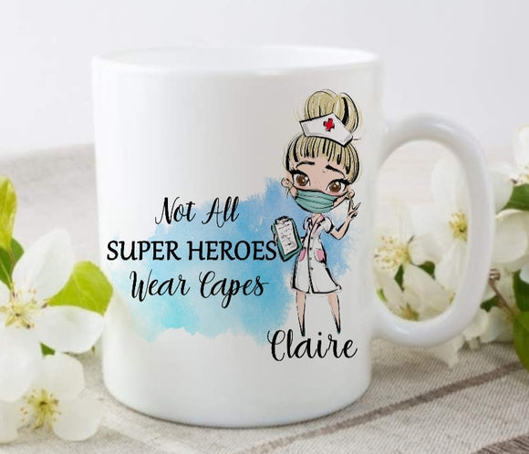 Not All Super Hereos Wear Capes Ceramic Mug