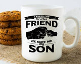 Father and Son Best Friends Mug