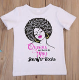 Afro Queens Are Born In Women Slim Fit T-Shirt