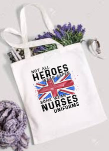 Not All Super Hereos Wear Capes Union Jack Tote Bag