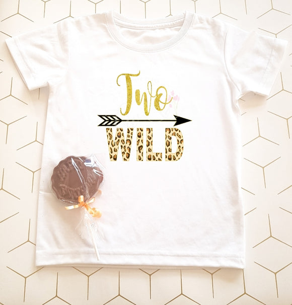 Two Wild Children's Birthday T-Shirt