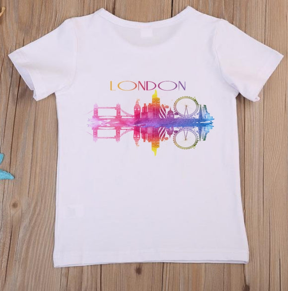London Skyline Watercolour T-Shirt