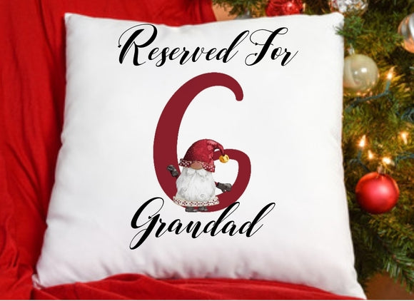 Personalised Red Gnome Cushion