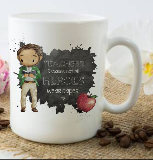 Male Not All Superheroes Wear Capes Mug