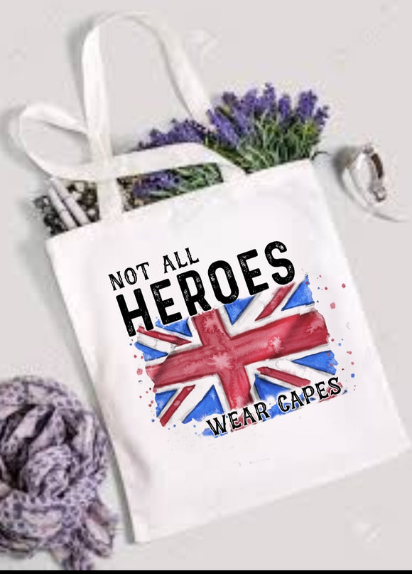 Union Jack Hero Tote Bag