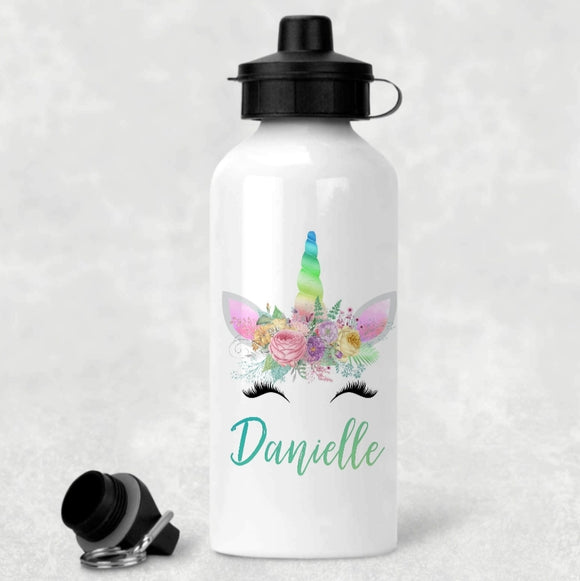 Personalised Unicorn Aluminium Water Bottle