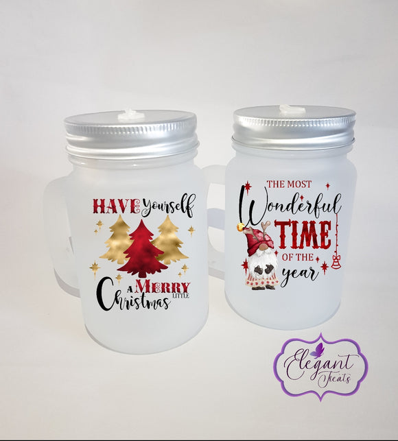 Gnome Wonderful Time of the Year Mason Jar