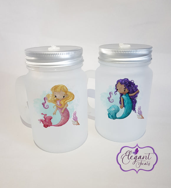 Mermaid Mason Jar