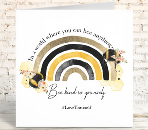Bee Rainbow Card