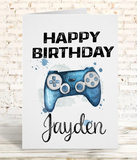 Playstation Controller Birthday Card