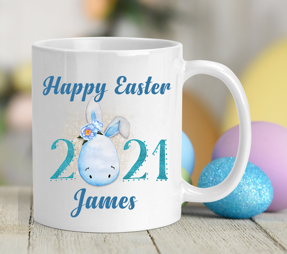 2021 Bunny Egg Easter Ceramic Mug