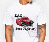 Boxing Glove Born Fighter T-Shirt