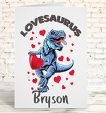 Lovesaurus Valentine's Day Card