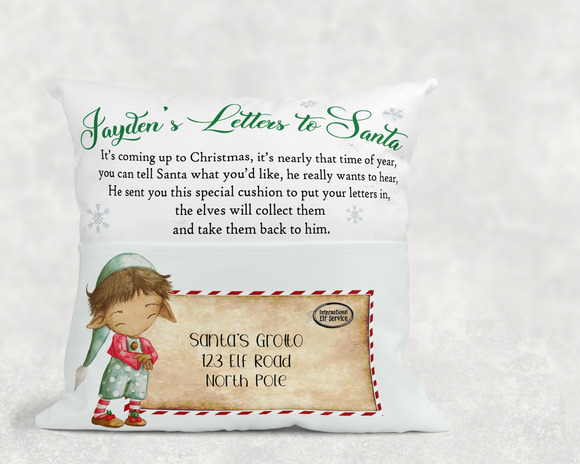 Elf Santa Letter Cushion