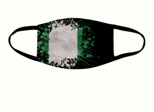 Nigerian Flag Splash Face Covering