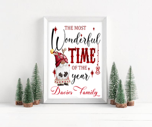 Gnome Wonderful Time of the Year Print