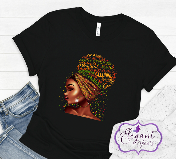 Black Queen Affirmation Cotton T-Shirt