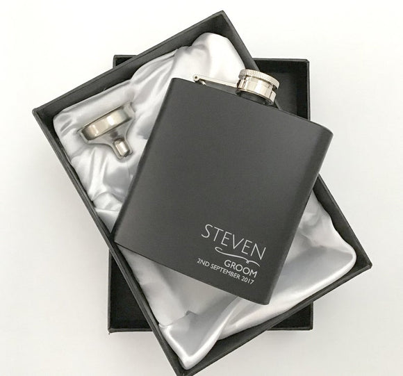 Groomsmen Hip Flask Box Set