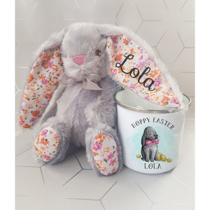 Hoppy Easter Enamel Mug and Bunny
