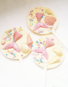 Mermaid Tail Chocolate Lollies