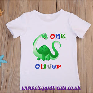 Children's Dinosaur Birthday T-Shirt