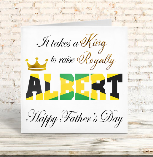Jamaican Flag Raising Royalty Father's Day Card