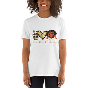 Peace Love and Melanin Cotton T-shirt