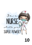 I'm A Nurse Superpower Bottle Flask
