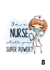 I'm A Nurse Superpower  Slim Fit T-shirt